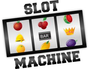 Slot machine, machine à sous, symboles, fruits